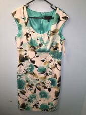 NWT Connected Apparel Sz 12 Dress Multi Color Floral Sleeveless Knee Length NWT