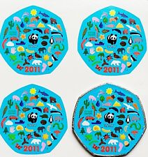 50p wwf coin new stickers x 8 2011