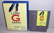 Nintendo NES 1990 LOW G MAN: The Low Gravity Man Video Game Cartridge With Case