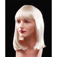 Women's Blonde Wig Bangs Medium Bob Short