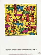KEITH HARING -  4. DESIGNER DÜSSELDORF 1991 EXHIBITION  * VERY RARE PRINT 1993