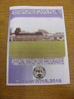 25/08/2015 Pershore Town v Racing Club Warwick  . Footy Progs/Bobfrankandelvis,