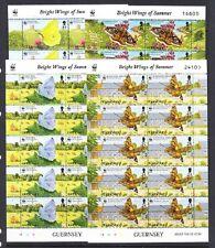 Guernsey Scott 586-589 Mint Nh mini-sheets (Catalog Value $63.00) Wwf