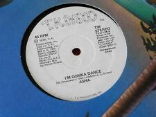 "ASHA~ I'M GONNA DANCE~ MUSIC MACHINE~ NEAR MINT~ PROMO~ T K RECORDS ~ 12"" SINGLE"
