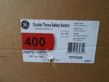 Ge Tdt3325 Double Throw Safety Switch 400amp 240vac 3 P 3w New In Box