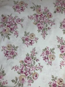 Rachel Ashwell Simply Shabby Chic Blush Beauty Shower Curtain Cabbage Rose 72""