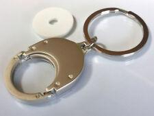 2 Stück Metall Schlüsselanhänger Chiphalter für Einkaufschip, Euromünze Chip NEU