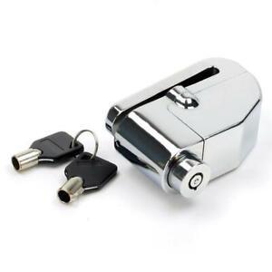 Silver Anti Theft Motorcycle Motorbike Bike Disc Lock Key Security LODALM01