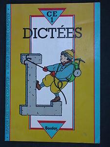 Dictées CE1 - Bordas 1986 - Français Cahier exercices avec corrigés