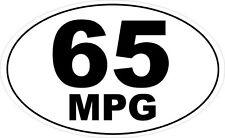 65 mpg ovale autocollant en vinyle-transport miles par gallon themed 16 cm x 9 cm