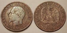 5 Centimes Napoléon III, 1855 MA ancre, Rare !!