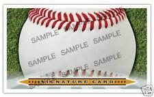 Blank Signature cards 3x5 INDEX Baseball autographcard