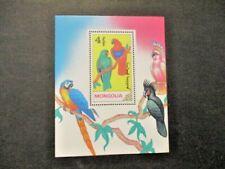 """Mongolia """"Parrots""""  Souvenir Stamp Sheets Lot of 6v, MNH OG"""