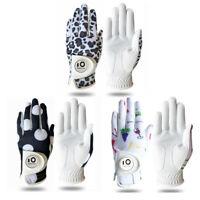 WOMEN'S GOLF GLOVES Soft Fit Cabretta Leather Women Golfer Glove S M L XL US