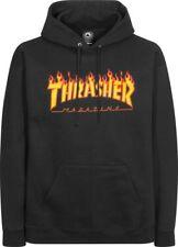 THRASHER FLAME Capucha Sudadera Negro M