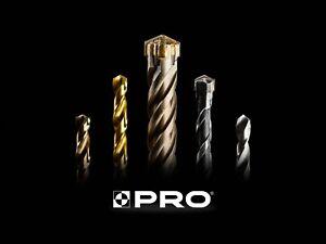 PRO Masonry Drill Bits SDS Cross Head, Masonry / Brick / Concrete 8mm-20mm
