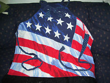 Patriotic Full Apron Red White Blue Flag Themed with Sparkle