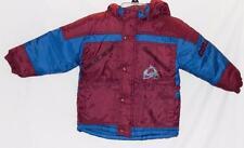 Colorado Avalanche NHL Winter Jacket Hooded Burgundy Blue Kids Boys Size 4