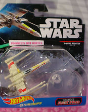 STAR WARS Starships X-WING FIGHTER RED FIVE✰2016 HOT WHEELS Diecast✰Flight Stand