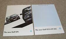Volkswagen VW Golf Mk3 GTI & GTI 16v Brochure & Specifications 1992-1993