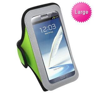 Green Sports Gym Running Jogging Walking Armband Case Phone Holder Strap