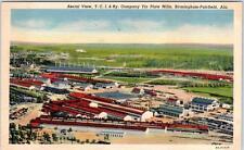 BIRMINGHAM-FAIRFIELD, Alabama  AL   T.C.I. & RAILWAY Tin Plate Mills  Postcard