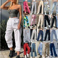 Womens Fashion Bottoms Jogging Joggers Tracksuit Casual Wide Leg Trousers Pants