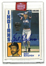 2019 Topps Archives Signature Series Bert Blyleven 1/1 OPC auto card Indians HOF