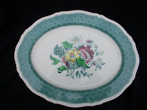 Ridgway PLYMOUTH. Oval Dish. 16 x 12½ inches.