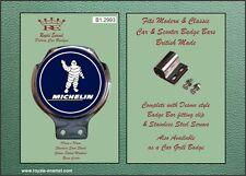 Royale Car Scooter Bar Badge + Fittings - MICHELIN BIBENDUM MAN BLUE - B1.2993