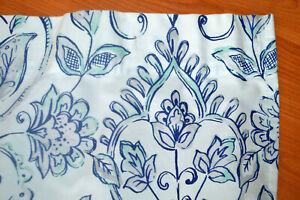 Artisan De Luxe Fabric Shower Curtain Nautical Beach Cottage Blue White Aqua L2
