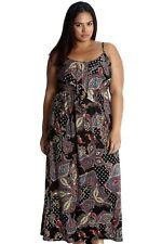 Maxikleid Gr.50/52 Sommerkleid Stretchkleid Paisley Maxi Kleid lang Damen Sommer