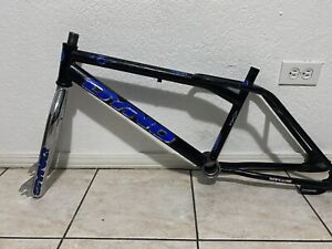 """Old School 1996 Dyno Air Bmx Freestyle 19.5"""" Frame & Fork Akisu Black"""