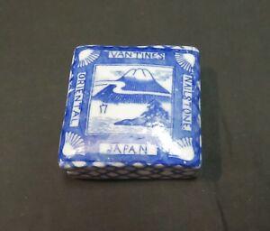 Vintage Black & White Porcelain Box, A A Vantine & Co