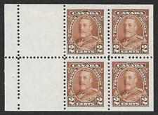 Canada 1935 2c. Brown Booklet Pane SG 342b (Mint)