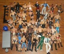 VERY USED Lot of 40 Vintage Wrestling Action Figures WWF WWE WCW Jakks OSFTM