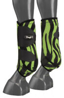 Green Zebra Extreme Vented Neoprene Size Medium Rear Sport Boots Horse Tack