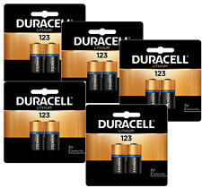Duracell DL123A, CR123A 3V Lithium Batteries X 10