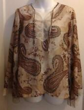 Vintage Print Long Sleeve Polyester Top by Limited Too - Size Juniors XXXL