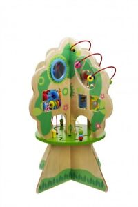 Wooden Activity Tree Center Shape Sorting Counting Telling Time Educational Toy