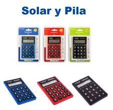 Calculadora Escolar Comercio Oficina - 8 Digitos - Solar Y Pila - Dual Power