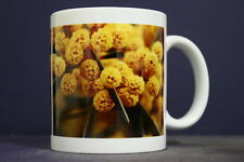 UNIQUE 350ml MUG WITH EMBEDDED IMAGE OF ORIGINAL PHOTOGRAPH: Golden Wattle
