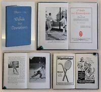Stock Schule des Tennissports 1925 Ballsport Rückschlagspiel illustriert xz