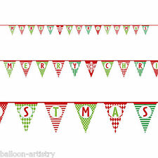 14ft ALLEGRO Buon Natale party di carta PENNANT FLAG BANNER Decorativo
