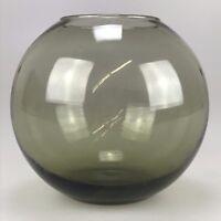 60er 70er Jahre Vase Glas Vase Blumenvase Glasvase Rauchglas Design Space Age