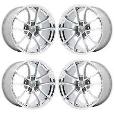 19 20 CORVETTE C7 GRAND SPORT CHROME WHEELS RIMS FACTORY OEM SET 4 5595 5599 Q8Z