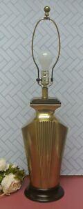 Vintage Art Deco Brass Table Lamp