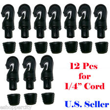"10X 1/4"" Hooks for 1/4"" Bungee Shock Cord End Tabbed Kayak Canoe Raftig"