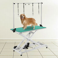 Electric Lifting Pet Dog Grooming Table 440Lbs rubber plastic Height Adjustable