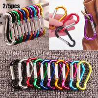 Outdoor Hiking Aluminum Alloy Carabiner Clip Hooks Keychain Buckles Tools